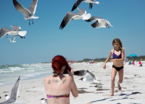 kathy beach shot